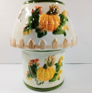 Harvest Fall Themed Ceramic Candle Lamp Holder